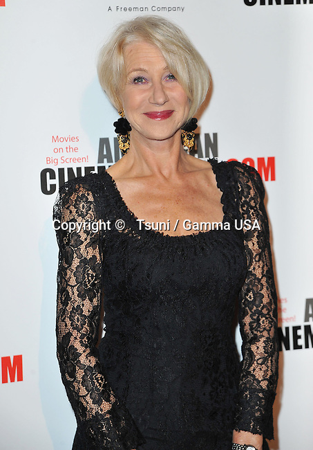 Helen Mirren  at the American Cinematheque Honoring Jerry Bruckheimer at the Beverly Hilton Hotel in Los Angeles.