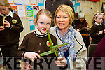 Amy McCarthy with Grandmother Catherine McCarthy at the Gaeilscoil Mich Easmann Grandparents Day and Blessings of St. Bridgets Crosses on Monday
