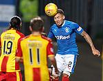 James Tavernier scuds the ball
