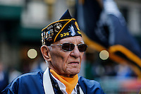 A war veteran take part in the annual Veterans Day parade in New York.  10.11.2014. Eduardo Munoz Alvarez/VIEWpress