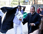 WATERBURY, CT- 21 June  2017-062117CM01-  Waterbury Arts Magnet School graduates  Brandon Amao, left, and Seth Medina share a laugh during commencement exercises at the Palace Theater in Waterbury on Wednesday.  Christopher Massa Republican-American
