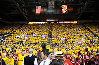 Terrapins fans clad in team colors show their team spirit at the Comcast Center in College Park, MD on Wednesday, March 3, 2010. Alan P. Santos/DC Sports Box