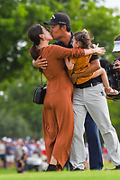 Kevin Na (USA) kisses his wife after winning the 2019 Charles Schwab Challenge, Colonial Country Club, Ft. Worth, Texas,  USA. 5/26/2019.<br /> Picture: Golffile | Ken Murray<br /> <br /> All photo usage must carry mandatory copyright credit (© Golffile | Ken Murray)