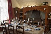 Europe/France/Bretagne/56/Morbihan/Belle-Ile / Pointe des Poulains : Détail du Fort de Sarah Bernhardt, la comédienne acheta un ancien fort militaire dont elle fit sa résidence