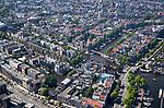 AMSTERDAM - luchtfoto  van de Amstel , centrum Amsterdam. met Schreierstoren,  Stopera,  COPYRIGHT  KOEN SUYK