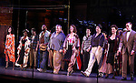 The Ensemble.during the New York City Center Encores! 'Pipe Dream' Opening Night Curtain Call in New York City on 3/28/2012.