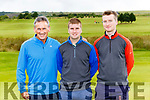 Willie and Francis O''Keary with James McAulliffe at Jonathan Kelliher Captains Drive in Castleisland Golf Course on Sunday