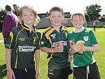 Luke Murphy, Danny Little and Conor O'Dwyer pictured at the Gathering at Boyne RFC. Photo:Colin Bell/pressphotos.ie