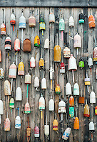 Lobster buoys, Jonesport, Maine, USA.