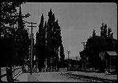 Approach track to Union Station in Santa Fe.<br /> D&amp;RGW  Santa Fe, NM  1910