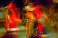 Blur of Ami dancers, Aboriginal tribe of Taiwan