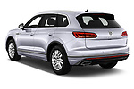 Car pictures of rear three quarter view of 2019 Volkswagen Touareg Business-Atmosphere 5 Door SUV Angular Rear