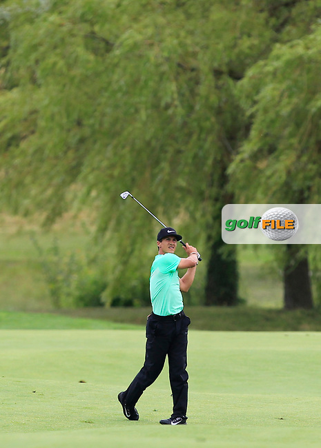 Thorbjorn Olesen (DEN) on the 18th fairway during Round 4 of the HNA Open De France  at The Golf National on Saturday 2nd July 2017.<br /> Photo: Golffile / Thos Caffrey.<br /> <br /> All photo usage must carry mandatory copyright credit       (&copy; Golffile   Thos Caffrey)