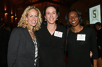 STANFORD, CA - NOVEMBER 14:  Kristin Folkl (Kristin Kaburakis) with Marnie Triefenbach and Charmin Smith during the Stanford Hall of Fame Induction Ceremony on November 14, 2008 at the Schwab Residential Center in Stanford, California.