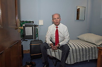 "United States Representative Dan Donovan (Republican of New York) in his ""bedroom"" within his Capitol Hill office in Washington, DC on Thursday, March 8, 2018. Photo Credit: Ron Sachs/CNP/AdMedia"