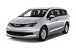 2018 Chrysler Pacifica LX 5 Door Mini Van angular front stock photos of front three quarter view