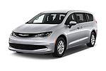 2018 Chrysler Pacifica LX 5 Door Mini Van angular front stock photos of front three quarter view