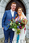 Aoife, daughter of Owen & Judy Deane McMahon, Listowel and Shane Creamer, son of Sean & Lily Creamer, Portroe, Nenagh, Co. Tipperary who were married in St. Mary's Church, Listowel by Canon Declan O'Connor on Saturday 1st August. Best man was Paudie Hickey and the bridesmaid was Maire McMahon. Flower girls were Ellie Mai McMahon & Aoibhinn Quinn. The reception was held in the Listowel Arms Hotel and the couple will live in Cork.