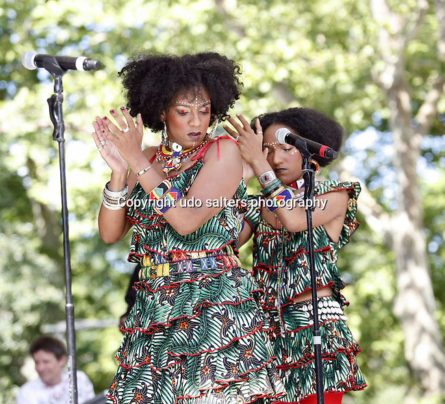 Les Nubians performing at Summerstage: Asa, Les Nubians and Oumou Sangare