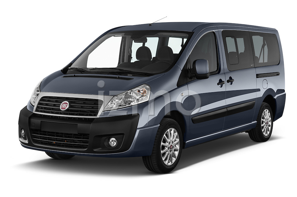 2015 Fiat SCUDO EXECUTIVE 5 Door Combi Angular Front stock photos of front three quarter view