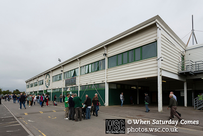 Yeovil Town 0 Queens Park Rangers 1, 21/09/2013. Huish Park, Championship. External view of The Augusta Westland Stand. Photo by Paul Thompson.