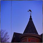 Americana.<br /> <br /> Pigs fly wind vane, Dayton, Ohio.