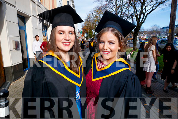 Sarah Carroll (Killarney) and Karen O'Sullivan (Mallow, Cork), who graduated in General Nursing from IT Tralee, on Friday morning last, at the Brandon Conference Centre, Tralee.