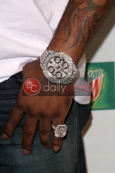 Busta Rhymes's jewelry <br /> at Spike TV's 2008 'Video Game Awards'. Sony Pictures Studios, Culver City, CA. 12-14-08<br /> Dave Edwards/DailyCeleb.com 818-249-4998