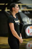 NWA Democrat-Gazette/ANDY SHUPE<br /> Bentonville coach Michelle Smith watches Tuesday, Sept. 10, 2019, during play against Van Buren in Tiger Arena in Bentonville. Visit nwadg.com/photos to see more photos from the match.