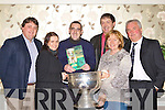 3813-3824.Jimmy Darcy-O'Sullivan with his Kerry's Eye colleagues at the launch of his book Forged in Green and Gold 125 Year of Kerry GAA in the Gleneagle hotel, Killarney on Saturday night l-r Sylvester Hennessy, Mary McCarthy, Jimmy O'Sullivan Darcy, Michael Ferriter, Breda Joy and Jim Gorman .