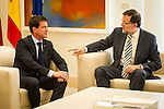 Visit the French Prime Minister Manuel Valls Spanish President Mariano Rajoy, in the Moncloa Palace. Madrid. Spain. 07/23/2014. Samuel Roman / Photocall3000.