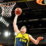 12.01.2020, ratiopharm arena, Neu-Ulm, GER, BBL-Pokal, ratiopharm ulm vs EWE Baskets Oldenburg<br /> , <br /> im Bild Dunking von Rasid Mahalbasic (Oldenburg, #24)<br /> <br /> Foto © nordphoto / Hafner