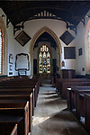 Inside village parish church of Saint Peter, Everleigh, Wiltshire, England, UK built 1813