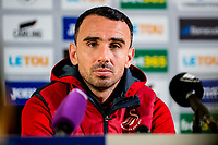 Swansea City caretaker Manager, Leon Britton in the post match press conference after the Premier League match between Swansea City and Crystal Palace at The Liberty Stadium, Swansea, Wales, UK. 23 December 2017
