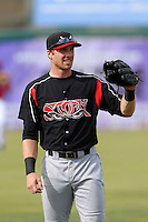 Kyle Gaedele #12 of the Lake Elsinore Storm before a game against the Inland Empire 66'ers at San Manuel Stadium on June 23, 2013 in San Bernardino, California. Lake Elsinore defeated Inland Empire, 6-2. (Larry Goren/Four Seam Images)