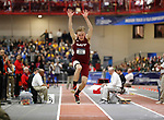 NAPERVILLE, IL - MARCH 11: William Ruschel of MIT during the men's Triple Jump event at the Division III Men's and Women's Indoor Track and Field Championship held at the Res/Rec Center on the North Central College campus on March 11, 2017 in Naperville, Illinois. (Photo by Steve Woltmann/NCAA Photos via Getty Images)