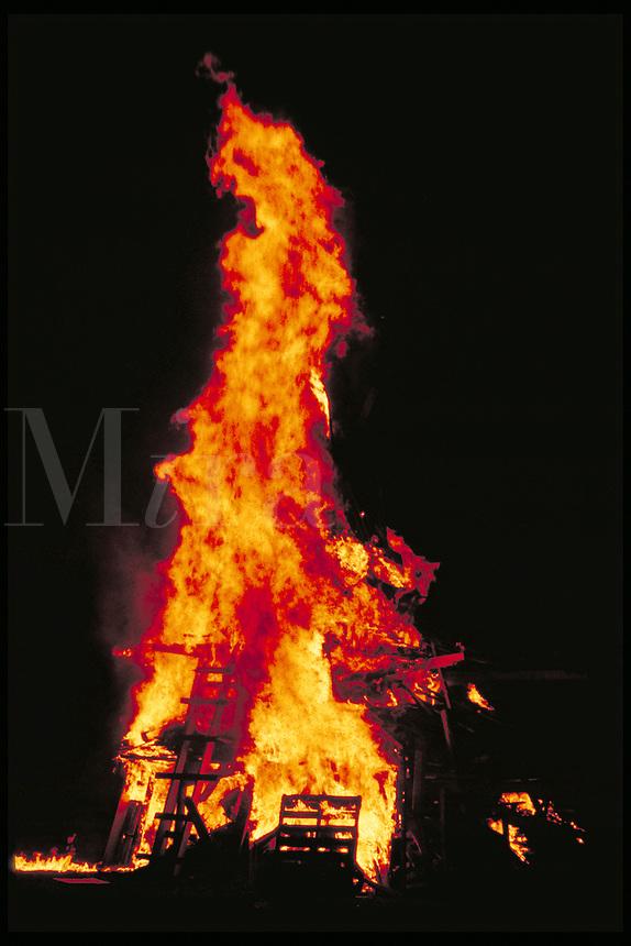 Bonfire. Birmingham Alabama United States.