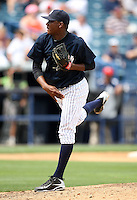 April 3, 2010:  Pitcher Noel Castillo of the New York Yankees playing in the annual Futures Game during Spring Training at Legends Field in Tampa, Florida.  Photo By Mike Janes/Four Seam Images