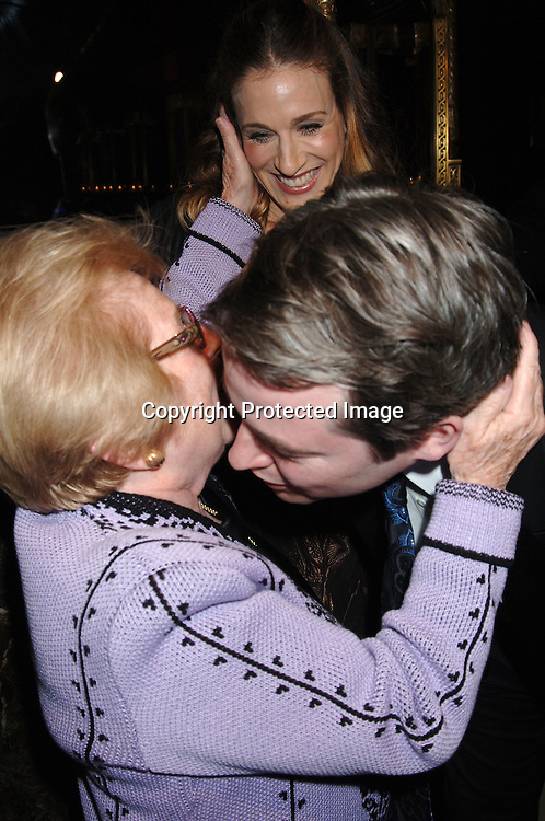 Sarah Jessica Parker, Matthew Broderick and Dr Ruth Westheimer ..at The American Theatre Wing's Annual Spring Gala honoring Matthew Broderick and Nathan Lane on ..April 10, 2006 at Cipriani 42nd Street. ..Robin Platzer, Twin Images