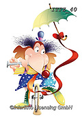 Fabrizio, Comics, CUTE ANIMALS, LUSTIGE TIERE, ANIMALITOS DIVERTIDOS, comic, paintings+++++,ITFZ40,#ac#, EVERYDAY,clown