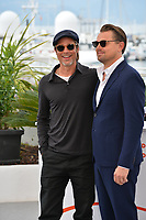 "CANNES, FRANCE. May 22, 2019: Brad Pitt & Leonardo DiCaprio at the photocall for ""Once Upon a Time in Hollywood"" at the 72nd Festival de Cannes.<br /> Picture: Paul Smith / Featureflash"