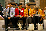LIFFE TRADERS and BALTIC EXCHANGE SHIPPING BROKERS CITY OF LONDON 1990S UK