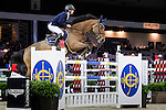 Pieter Devos on Espoir competes during Massimo Dutti Trophy  at the Longines Masters of Hong Kong on 21 February 2016 at the Asia World Expo in Hong Kong, China. Photo by Victor Fraile / Power Sport Images