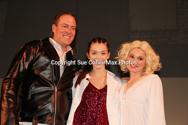 """- Guiding Light's Mandy Bruno and Robert Bogue star in Lilttle Shop of Horrors The Musical on May 27, 2018 presented by CaPAA at the Ritz Theater in Scranton, PA. Mandy is """"Audrey"""", Robert is """"Orian, Berstein, Luce, Snip, Martin"""" and Kelly is """"Seymour"""". Mandy is  also the director, set designer, video projection production, props and costumes.  (Photo by Sue Coflin/Max Photo)"""