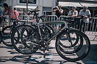 Although Peter Sagan (SVK/Bora-Hansgrohe) was expelled from the race the day before, his customised Specialised Tarmac was race ready at the start  <br /> <br /> 104th Tour de France 2017<br /> Stage 5 - Vittel &rsaquo; La Planche des Belles Filles (160km)