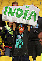 An enthusiastic India fan during the 2nd ODI cricket match between the New Zealand Black Caps and India at Westpac Stadium, Wellington, New Zealand on Friday, 6 March 2009. Photo: Dave Lintott / lintottphoto.co.nz