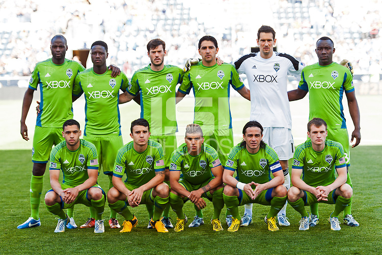 Seattle Sounders starting eleven. The Philadelphia Union and the Seattle Sounders played to a 2-2 tie during a Major League Soccer (MLS) match at PPL Park in Chester, PA, on May 4, 2013.