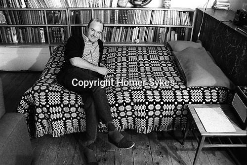Keith Vaughan (23 August 1912 - 4 November 1977) artist in his south London studio 1968.