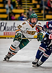 9 February 2018: University of Vermont Catamount Defender and Team Captain Taylor Willard, a Senior from Naperville, IL, in second period action against the University of Connecticut Huskies at Gutterson Fieldhouse in Burlington, Vermont. The Lady Cats defeated the Huskies 1-0 the first game of their weekend Hockey East series. Mandatory Credit: Ed Wolfstein Photo *** RAW (NEF) Image File Available ***