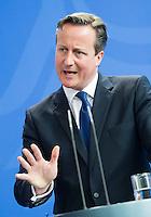 Berlin, Bundeskanzlerin Angela Merkel (CDU) und der britische Premierminister David Cameron am Freitag (29.05.2015) bei einer Pressekonferenz im Bundeskanzleramt. Foto: Steffi Loos/CommonLens